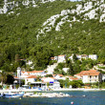 Panoramic view croatian town Klek — Stock Photo #32694691