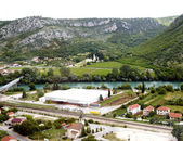 View from above on small town Pocitelj, Bosnia-Gercegovina — Stock Photo