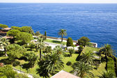 Beautiful park ashore Mediterranean — Stock Photo