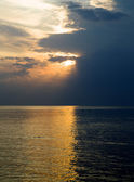 Sunset above the Baltic sea — Stock Photo