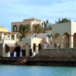 Exterior of luxurious hotel in El Gouna — Stock Photo