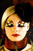 Linda garota com artística make - up — Fotografia Stock