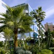 Modern hotel with a wonderful garden in Casablanca — Stock Photo