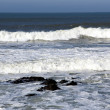 Waves ashore the winter Atlantic ocean — Stock Photo #39111861
