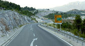Mountain serpentine in Montenegro — Stock Photo