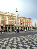 Panoramic views of Place Massena — Stock Photo