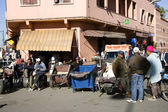 On the narrow streets of old Medina in Marrakech — Stock Photo
