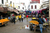 On the narrow streets of old Medina in Casablanca — Stock Photo
