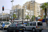 Traffic on the streets in Bat-Yam, Israel — Stock Photo