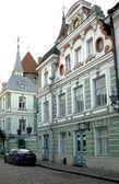 Beautiful restored houses 19 centuries — Stock Photo