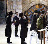 Jews being prayed at the Western Wall — Stock Photo