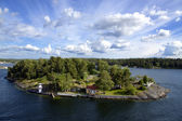 Island in the Stockholm archipelago — Stock Photo
