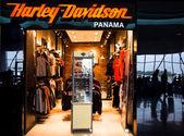 HARLEY DAVIDSON shop in airport of Panama city — Stock Photo