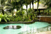 Pool with hot thermal water in a hotel The Springs Resort and Spa — Stock Photo
