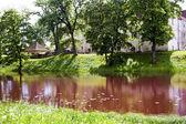 Jaunpils zabytkowy zamek średniowieczny — Zdjęcie stockowe