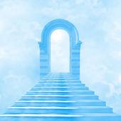 Tanrı'ya giden cennete merdiven — Stok fotoğraf