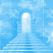 The stairway to heaven leading to God — Stock Photo