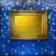 Stock Photo: Wooden frames for photo on nightly glowing background