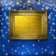 Wooden frames for photo on the nightly glowing background — Stock Photo
