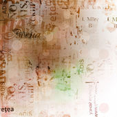 Astratto sfondo grunge con vecchi manifesti strappati con sfocatura boke — Foto Stock