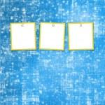 tres marcos para fotos en el fondo brillante — Foto de Stock