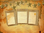 Abstract untidy ancient background in scrap booking style with f — Stock Photo