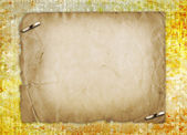 Grunge alienated paper design in scrapbooking style on the abstr — Stock Photo