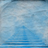 The stairway to heaven leading to God on the old paper — Fotografia Stock