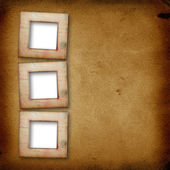 Grunge papers design in scrapbooking style with frame — Stock Photo