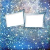 Veelkleurige achtergrond voor groeten of uitnodigingen met frames — Stockfoto