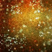五彩缤纷的问候或邀请与明星的背景 — 图库照片