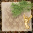 Angel christmas hanging on the pine branch. -  
