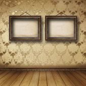 Wnętrza sali starego były resztki luksusowe — Zdjęcie stockowe