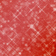 Winter abstract background, christmas stars with snowflakes - Stock Photo