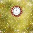 Christmas gifts to the clock on the abstract background with con - Foto de Stock