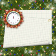 Christmas gifts to the clock on the abstract background with con — Stock Photo #15857991