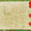 Beautiful card for congratulation or invitation with red bow an — Stock Photo