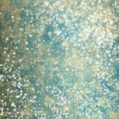Astratto sfondo nevoso con fiocchi di neve, stelle e divertimento confett — Foto Stock