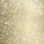 Abstraktní zasněžené pozadí s sněhové vločky, hvězdy a zábavné confett — Stock fotografie