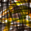 Abstract chaotic pattern with colorful translucent curved lines — Stock Photo #17228887