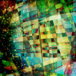 Abstract chaotic pattern with colorful translucent curved lines — Stock Photo #17466833