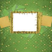 Progettazione di carte grunge in stile scrapbooking con telaio — Foto Stock