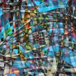 Abstract chaotic pattern with colorful translucent curved lines — Stock Photo #19175409