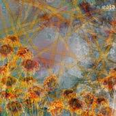 Grunge abstrakt bakgrund med gamla trasiga affischer med oskärpa text — Stockfoto