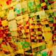 Abstract old chaotic pattern with colorful translucent curved li — Stock Photo #20311633