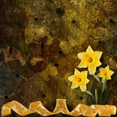 招待状の花の花束とお祝いカード na — ストック写真
