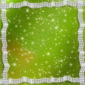 Abstrakt grün mit weissen schönen perlen — Stockfoto