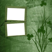 Design for St. Patrick's Day. Flower ornament. — Stock Photo