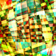 Abstract chaotic pattern with colorful translucent curved lines — Stock Photo #21459341