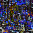 Abstract chaotic pattern with colorful translucent curved lines — Stock Photo #22189365